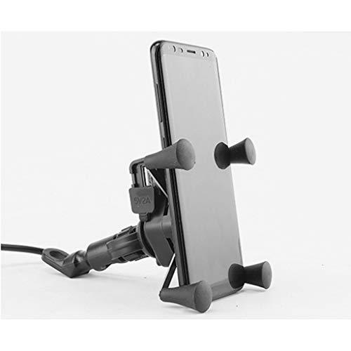 psler telefoonhouder voor fiets, GPS-navigatie, met USB-oplader voor iPhone X iPhone XR iPhone 8 | 8Plus iPhone 7 | 7 Plus iPhone 6 | 6S | 6 Plus Samsung Galaxy S7 | Galaxy S9 para Espejo Retrovisor