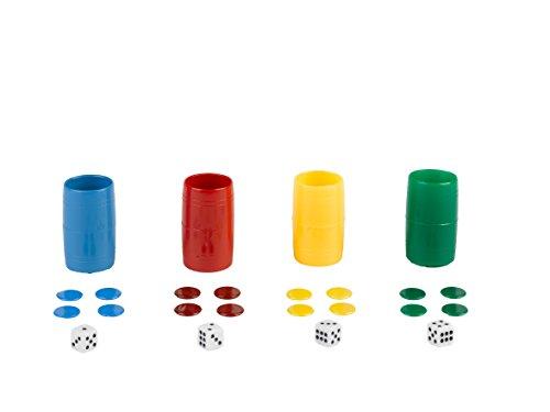 Falomir Set Completo de 4 cubiletes de plástico (Accesorios