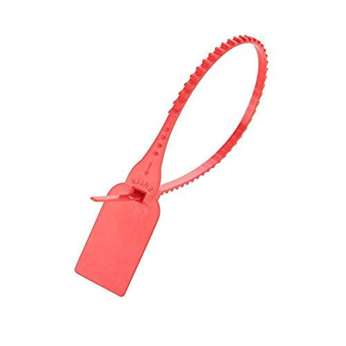 100 unids Nylon plástico ataduras de cables de plástico desechables de alambre largo autoblocante Zip recortar envoltura maleta zapatos etiqueta etiqueta(rojo)