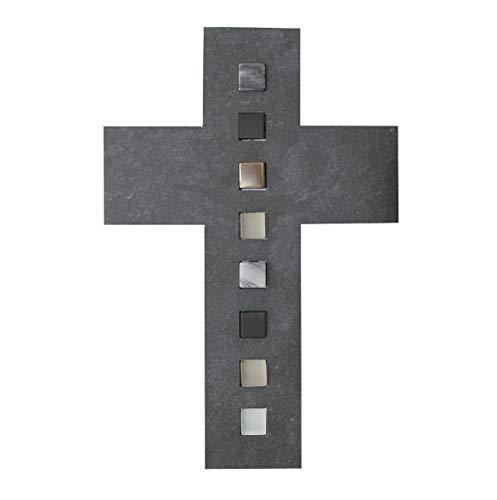 Schmuckkreuz 26,2 x 17,2 cm Schiefer