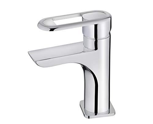 Strohm TEKA - Grifo tipo cascada de lavabo ARES. Monomando de lavabo con limitador de caudal, y cartucho cerámico.