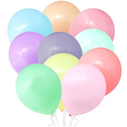 Oblique Unique® 10 Luftballons Bunt Pastell Farben für Kinder Geburtstag Party Deko Ballons Baby Shower JGA Einschulung Schuleinführung zum Spielen