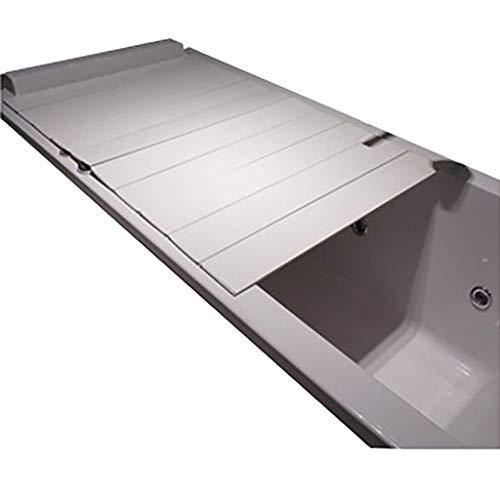 YGG-Bathtub Badewannenabdeckung Staubdichtes Brett Faltbare Badewanne Isolierabdeckung PVC-Halterung Badewanne Badewannenabdeckung Badewannenablage Badablage (Größe : 175 * 75 * 0.6cm)