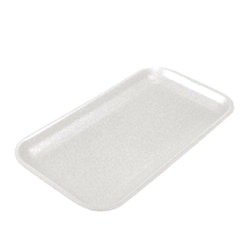 CKF 17SW, 17S White Foam Meat Trays, Disposable Standard Supermarket Meat Poultry Frozen Food Trays, 125-Piece Bundle