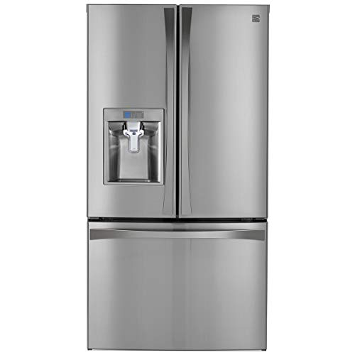 Kenmore 4673157 Elite 28.7 cu. ft. French Door Bottom Freezer Refrigerator in Black Stainless Steel, includes delivery and hookup (Available in select cities only)