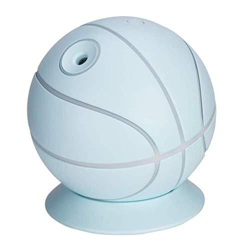 WZHZJ La aromaterapia humidificador humidificador luz Mini Ventilador difusor de aceites Esenciales Baloncesto Diseño refresco del Aire de la Niebla del pulverizador (Color : Blue)