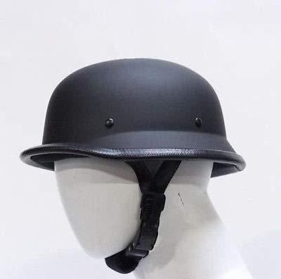 German Flat Black Novelty Skull Cap Half Helmet (Black, XL)