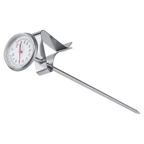 VBESTLIFE Edelstahl Milch Thermometer,-10~110 Kaffee Thermometer für Küche,BBQ, Essen, Steak, Türkei, Süßigkeiten, Milch,Bad Wasser usw.