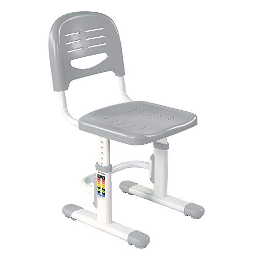 FD FUN DESK SST3 Grey SST3-Silla Infantil de Escritorio (Altura Regulable), Color Gris, Tela, 390 × 418 х 653-793 mm