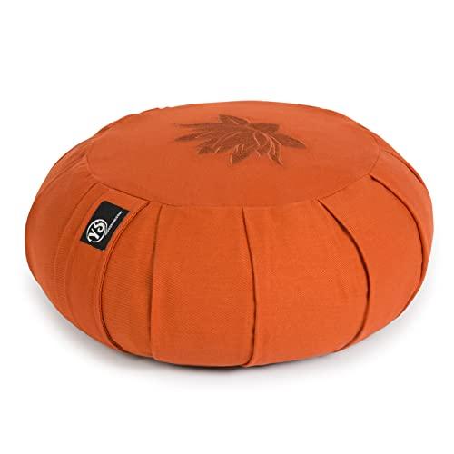 Yoga Studio YS Med/Cush/Terra/Lot meditationskudde, rund, zafu-vete, lotusblad, terrakotta,...