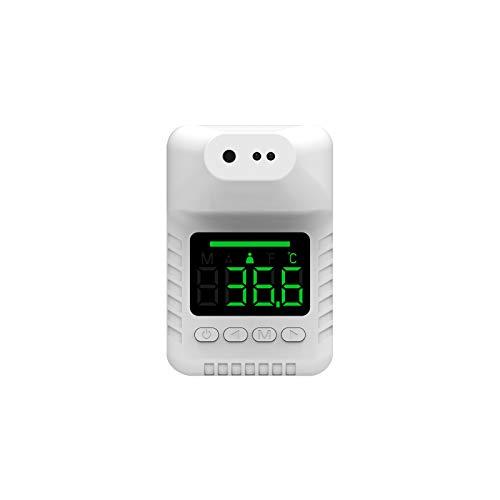 Termometro a infrarossi a parete,termometro senza contatto per il controllo dell'ingresso, 0,5S, per induzione, allarme intelligente ad alta temperatura, colore bianco