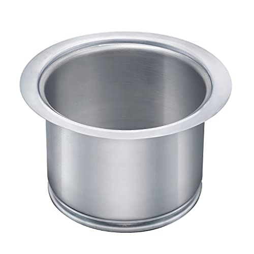 Kitchen Extended Sink Flange, Deep Stainless Steel Flange Kitchen Sink Garbage Disposal Flange Fit 3-1/2 Inch Standard Sink Drain Hole, Replacement for Deep Sink Flange