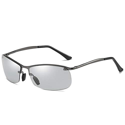 Burenqi Nuevas Gafas de Sol fotocromáticas para Hombres Gafas de Sol polarizadas Camaleón Gafas de Seguridad para la visión Nocturna,Gun Discolour