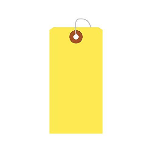 タカ印 タグ 25-2124 カラー荷札 中 一穴 100枚 黄