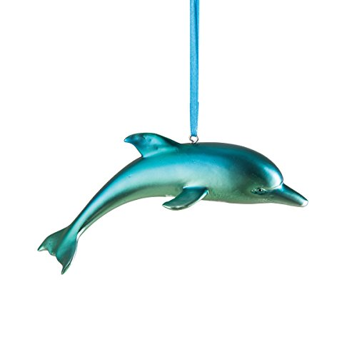 GALLERIE II Iridescent Blue Dolphin Christmas Xmas Ornament Multi