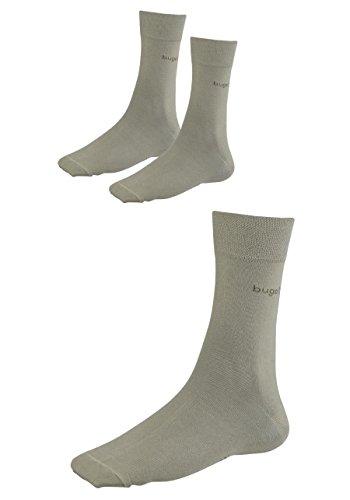 Bugatti Herrensocken Socken 9 Paar verschiedene Größen, Farbe: beige (43-46)