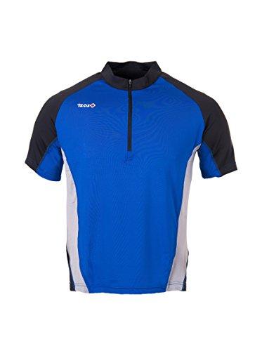 IZAS Kubor-Shirt de Course pour Homme L Azul Royal/Negro/Gris
