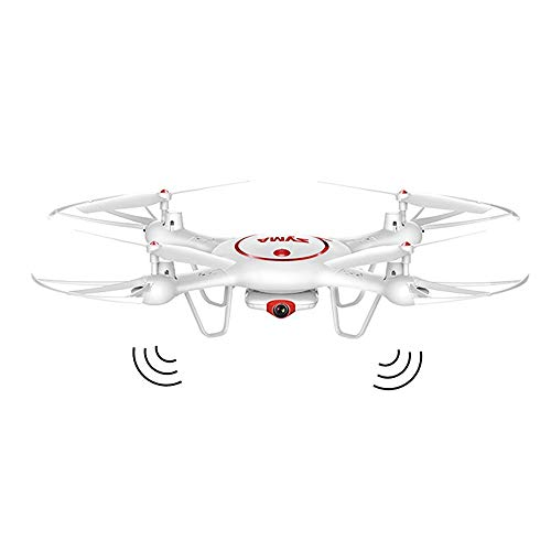 Drone Met 2MP HD-Camera Helikopterhoogte Houd Één Toets Vast 2.4G 4CH 6-Assige RC Quadcopter, Optische Stroompositionering, Realtime Luchtfotografie,White