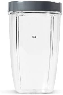 NutriBullet 24 Ounce Tall Cup with Standard Lip Ring Clear Gray product image