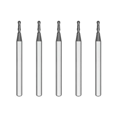 SPEED TIGER ISB Carbide Ball Nose End Mill - Micro Grain Carbide End Mill for Alloy Steels/Hardened Steels - 2 Flute - ISB1/16