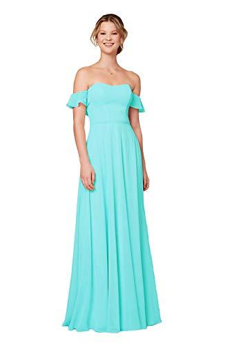 Off-the-shoulder Flounced Wedding Dress