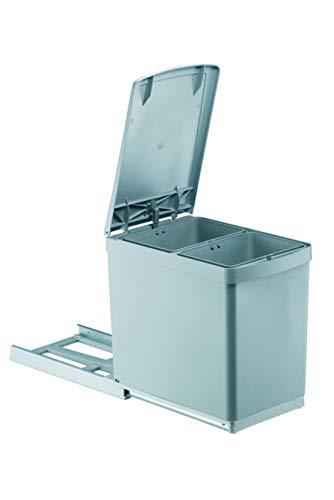 PYRAMIS Abfallsammler, Kunststoff, Grau, 2 x 7.5 Liter