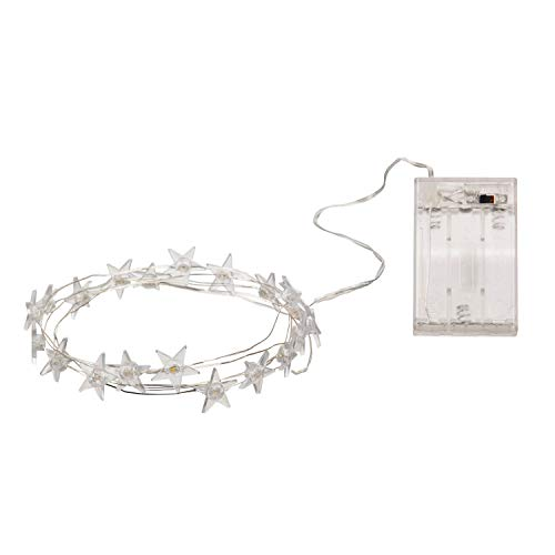 Cypress Home Beautiful Star String Light with LED Lights Wall Décor - 78 x 2 x 2 Inches Indoor/Outdoor Decoration for Homes, Yards and Gardens