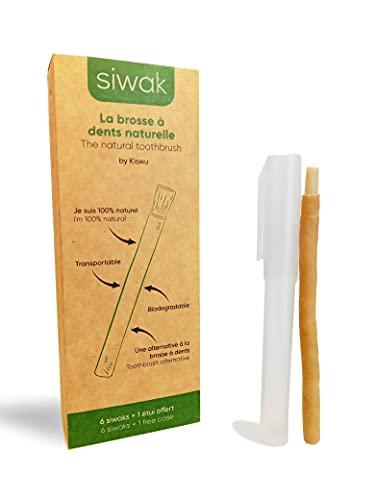 6x Miswak Sticks - Siwak, Natürliche Zahnbürste, biologisch abbaubar, inkl. 1 Etui