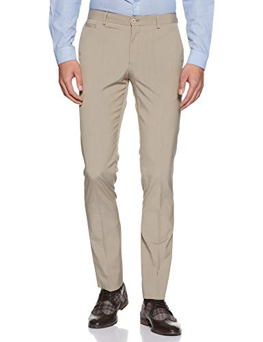 blackberrys Men's Formal Trousers (8907196464178_NDTANERKHAI15BPE_30W x 33L_Beige)