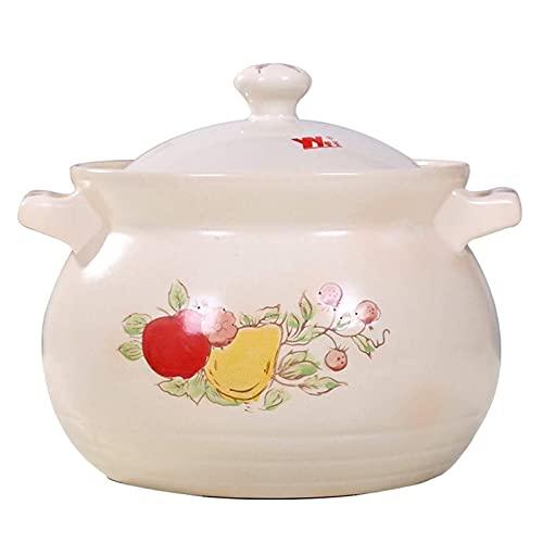 DJDLLZY Cacerola para horno, microondas y lavavajillas, apto para piedra pequeña y redonda, cazuela para el hogar, olla de cerámica (tamaño: 6 L)