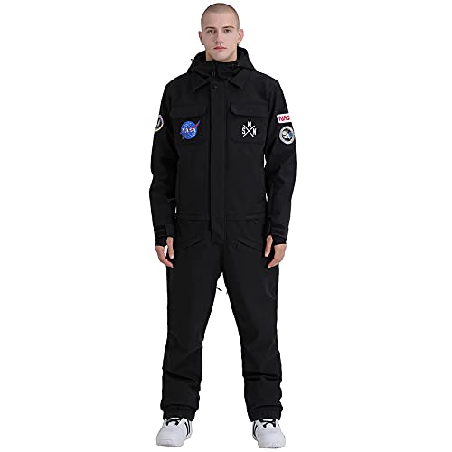 Ski Suit Mens One Piece Snowsuits Waterproof Winter Ski Snowboard Jacket for Skiiing Outdoor Clothing