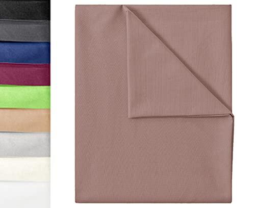 GREEN MARK Textilien Klassische Bettlaken | Betttuch | Laken | Leintuch | Haustuch 100% Baumwolle ohne Gummizug vielen Größen und Farben Größe:150x250 cm, Sand beige