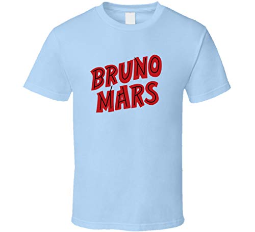 IDEAWIN Brun O Mars Gran Estrella Camiseta Azul Claro