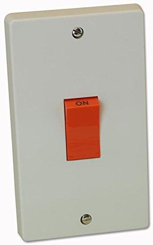 Crabtree Interruptor de cocina de doble polo 50A en placa vertical grande