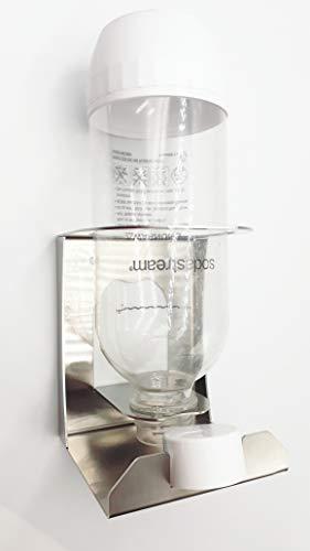 Abtropfhalter kompatibel für KitchenAid Wassersprudler, Sodastream, Wassermaxx Kunststoffflaschen, aus Edelstahl (1)