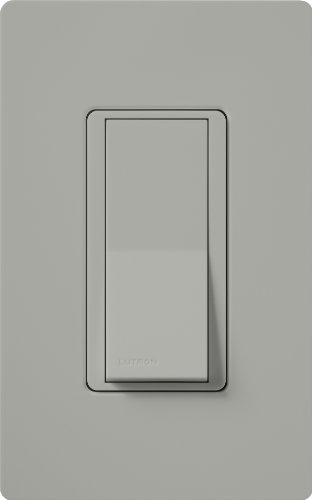 Lutron Claro On/Off Switch, 15 Amp, 3-Way, CA-3PS-GR, Gray