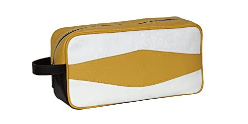 TERRIDA Zapatero tricolor de piel – Fabricado en Italia (cabeza moro-amarillo-blanco)