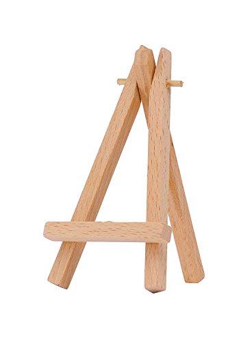 Marabu 1625000000100 - Mini Staffelei, Holzstaffelei für dekorative Zwecke, zum Aufstellen von Mini Keilrahmen, Tischkärtchen und Fotos, aus Buchenholz, fertig montiert, ca. 6,5 x 11,5 x 1,6 cm