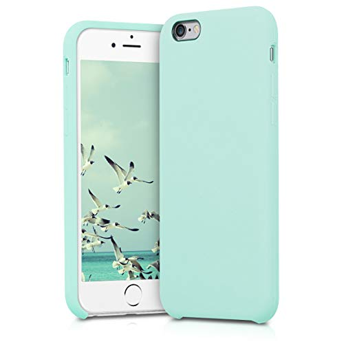 kwmobile Funda para Apple iPhone 6 / 6S - Funda Carcasa de TPU para móvil - Cover Trasero en Menta Mate