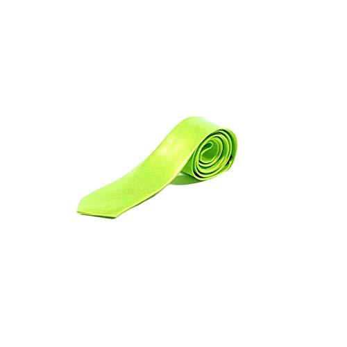 Cravate Fine Couleur Unie - Vert