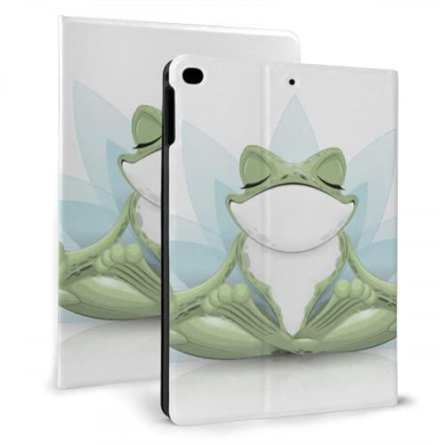 AlAlAl Funny Frog Doing Yoga Funda Protectora para iPad Compatible con iPad Mini 4 / Mini 5/2018 6th / 2017 5th / Air/Air 2 con Auto Wake/Sleep
