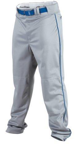RAWLINGS Jugend Premium Baseball/Softball semi-Relaxed Passform Paspel Hose, Jungen Mädchen, YPRO150P-BG/R-89, Blue Grey/Royal, M