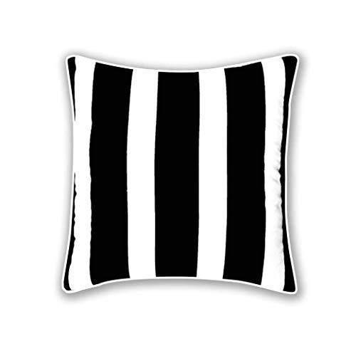 A&R 100% Cotton's BLACK&WHITE STRIPE(Bold) Luxury Cushion Cover Size 18'x18'