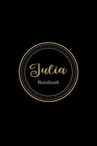 Julia Notebook: Personalized Name Notebook for Julia ,Personalized Gift, for Record Thoughts | Memories | Wisdom | Lined Notebook | Diary for Writing ... Taking for Girls and Women, 6x9 with 120 Page