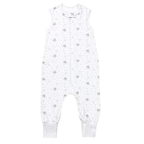 TupTam Saco de Dormir con Piernas de Verano para Bebés, Estrellas 123 / Gris, 104-110