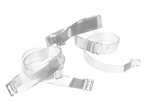 BH Träger transparent Metallverschluss durchsichtig Ersatzträger Silikon
