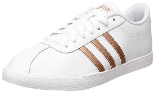 adidas Courtset, Zapatillas de Tenis Mujer, FTWBLA/COBMET/NEGBÁS, 40 2/3 EU