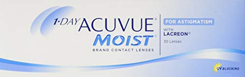 Acuvue 1-Day Acuvue Moist For Astigmatism Tageslinsen weich, 30 Stück/ BC 8.5 mm / DIA 14.5 mm/ CYL -1.75 / ACHSE 150 / -0.5 Dioptrien
