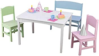 KidKraft Nantucket Table with Bench and 2 Chairs (Pastel)