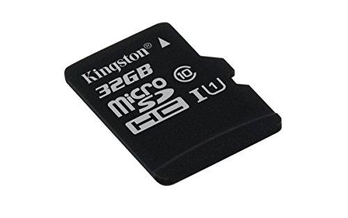 Kingston SDCS/32GBSP - MicroSD Canvas Select 32 GB, velocidades de UHS-I Clase 10 de hasta 80 MB/s lectura (sin adaptador SD)